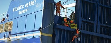 Greenpeace activists arrested on board nuclear waste ship