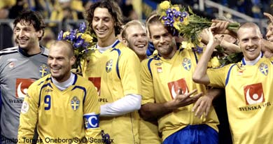 Victory over Latvia sends Sweden to Euro finals