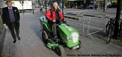 'Lawnmower man' completes epic journey