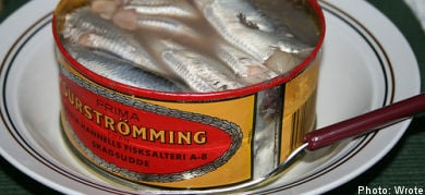 Apartment attacked with flying tin of fermented fish