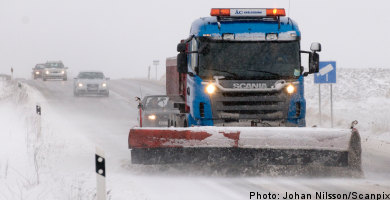 More snow and ice for Sweden's roads
