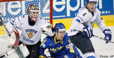Lackluster Swedes shut out by sharpshooting Finns