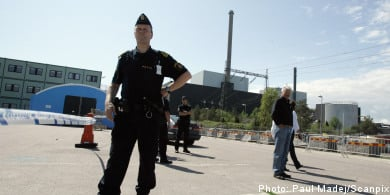 No explosives found at nuclear plant
