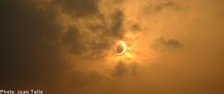 Solar eclipse best seen from the north