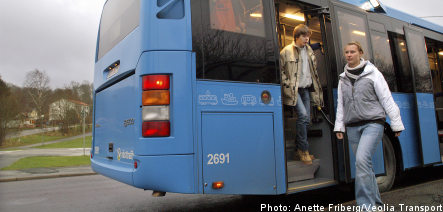Bus driver lock-out in northern Sweden