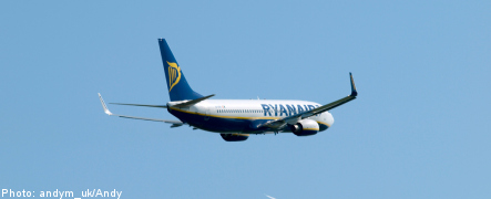 Ryanair adds new routes from Stockholm