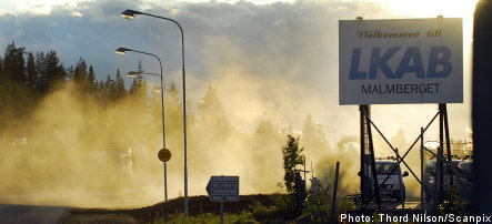Eight rescued after fire in Swedish mine