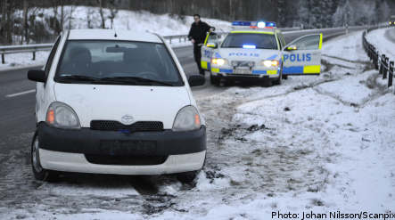 Icy road warning on Christmas Day
