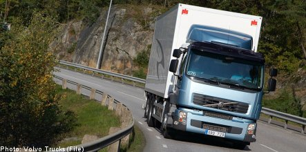 Volvo sees truck deliveries tumble in November