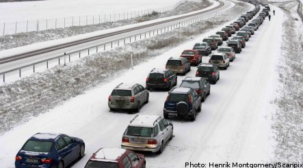 Icy conditions cause chaos on Sweden's roads