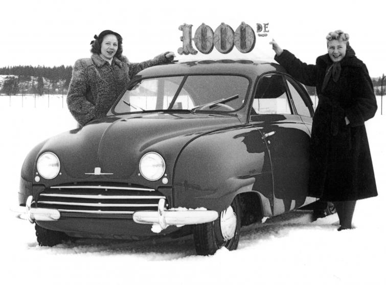 Saab 92 number 1000<br>Manufactured in 1950Photo: GM