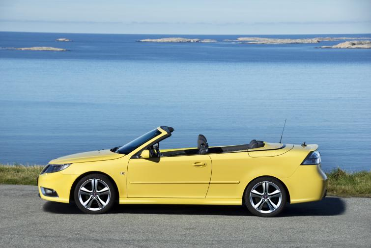 Saab 9-3 Cabriolet<br>Manufactured in 2008Photo: GM