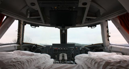 Ground control to cockpit suite: a night at the Jumbo Hostel
