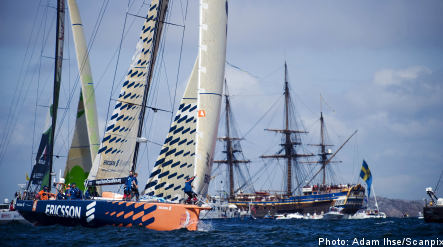 Swedish and US yachts do battle over Stockholm stage