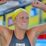 Sjöström swims to title in world record time