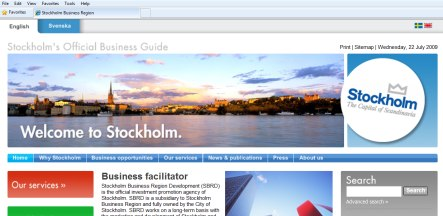 Stockholm reported for using too much English