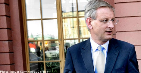 Bildt rejects Israeli call for official condemnation