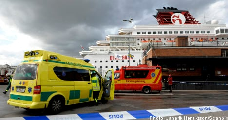 Two injured in Stockholm ferry fire