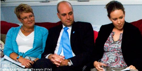 Reinfeldt and Olofsson back Green party talks