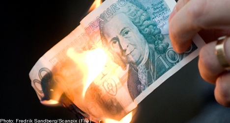 Playing with fire lands 11-year-old with million kronor debt