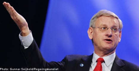 Too early to recognize Palestinian state: Bildt