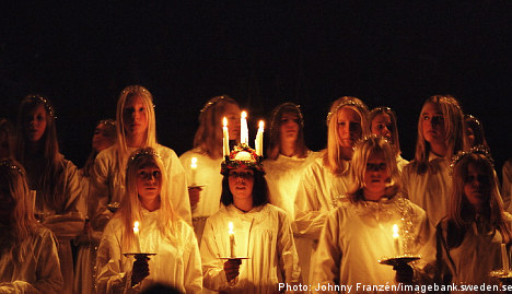 December in Sweden: From candle-head girls to jellied veal