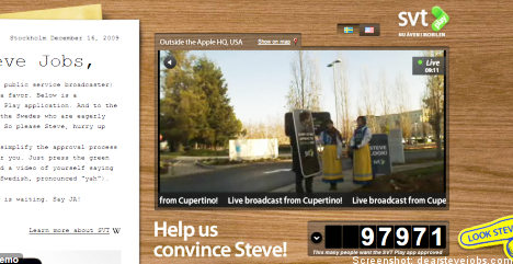 Swedish TV giant eyes Apple with web campaign