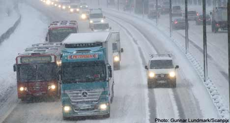 Winter keeps its grip on Sweden into the New Year