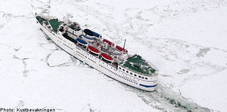 Three Baltic ferries stuck in the ice