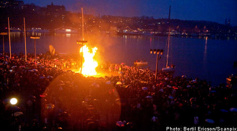 Police busy on alcohol-soaked Walpurgis Night