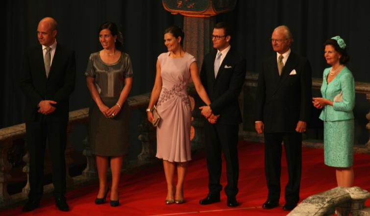 Royal Family at Government Wedding Reception