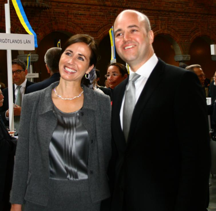 Prime Minister Fredrik Reinfeldt with wife Filippa, healthcare chief for Stockholm County Council.Photo: Anastasia Pirvu