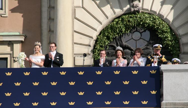 Royal Palace<br>The royals and Westling family applaud the choirPhoto: Anastasia Pirvu