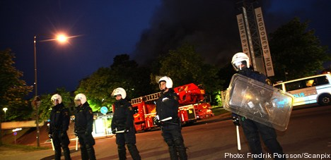 Man arrested over Rinkeby riots