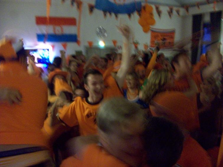 Dutch Embassy in Stockholm, Tuesday, July 6<br>Elation as the Orange Crush reach the final of the World Cup in South AfricaPhoto: Keith Moore