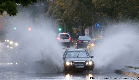 Rainfall warning in effect for southern Sweden