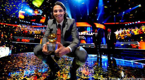 Zlatan claims record fifth 'Golden Ball'