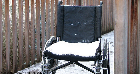 Swedish wheelchair thieves tracked in snow