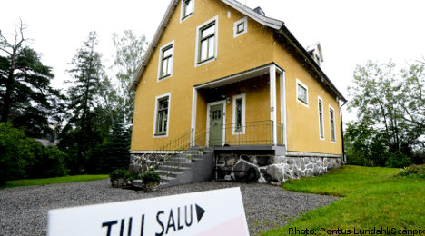 Swedish housing 'bubble' about to burst: agency