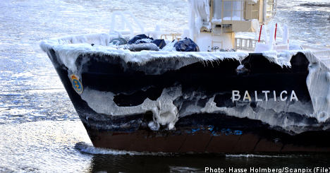 Deep freeze puts Baltic on track for record ice
