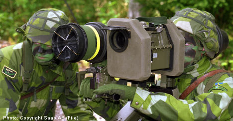 Global arms sales on the rise: Swedish think tank