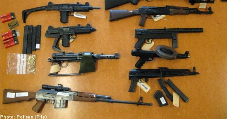 Gun smuggling on the rise in Sweden: police