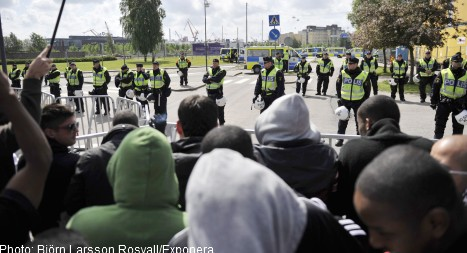 Police out in force for mosque protests