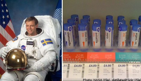 Fuglesang survives homeopathic pill overdose