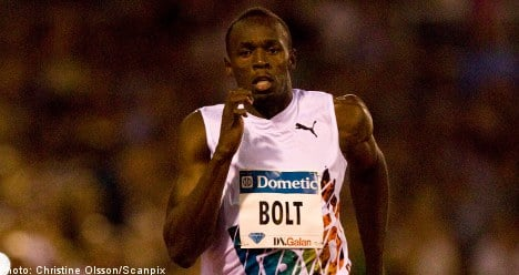 Bolt sprints to victory in Stockholm