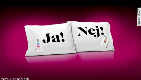 Raunchy pillow to boost Swedish book sales