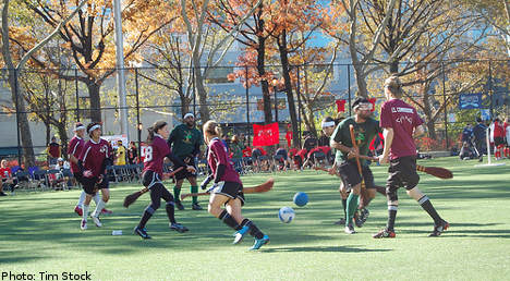 Swedes drop sticks for Quidditch cup