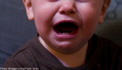 Baby's crying forces family to move