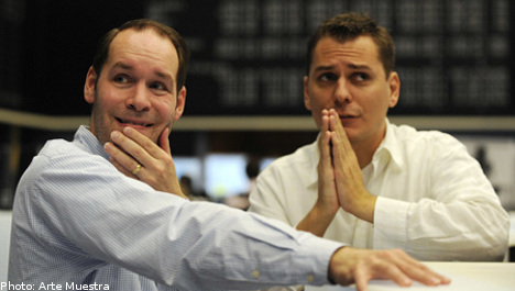 Stockholm stock market in record fall