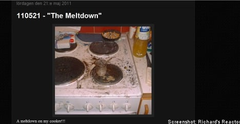 Swede speaks out about kitchen nuclear reactor